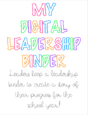 EDITABLE Digital Leadership Binder WITH FONTS ***UPDATED***