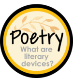 EDITABLE Digital Lesson - Literary Devices in Poetry