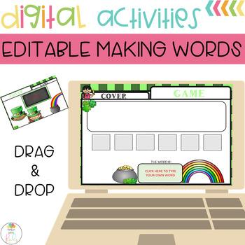 Editable Making Words Template | St. Patricks Theme