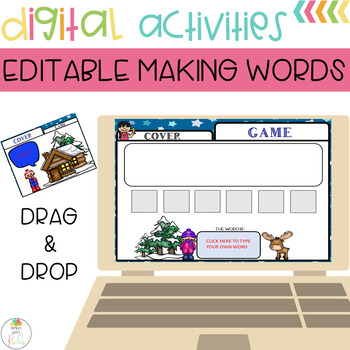 Editable Making Words Template | Winter Theme