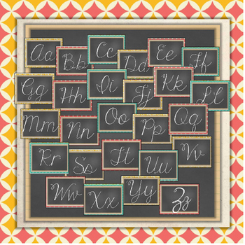 EDITABLE Digital Media Arts Cursive Word Wall {Vintage meets Modern Theme}