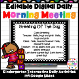 EDITABLE Digital Morning Meeting and So Much More For GOOG
