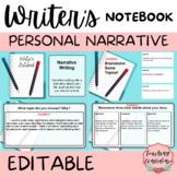EDITABLE Digital Personal Narrative Writers Notebook