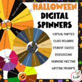 EDITABLE Digital Spinners for Halloween Games and Virtual Parties