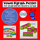 EDITABLE Digraph Puzzles for Kindergarten and First Grade Set 1