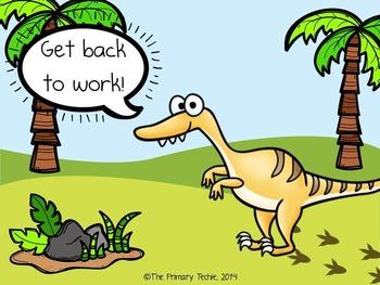 EDITABLE Dinosaur Move It - Brain Breaks