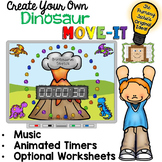 EDITABLE Dinosaur Move It - Brain Breaks