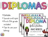 EDITABLE Diplomas De Fin De Año - End Of Year Certificates