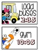 EDITABLE Disney Daily Schedule Cards (38 CARDS)