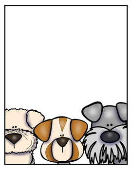 EDITABLE Dog Themed Binder Covers