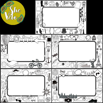 EDITABLE Doodle Labels, Name Tags