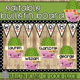 EDITABLE Door Decor and Bulletin Board Set for Back to School