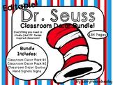 EDITABLE Dr. Seuss Inspired Classroom Decor Bundle!