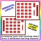 EDITABLE! Drag & Drop SEATING CHART - Starting Layout of 20 Students - Red