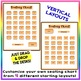 EDITABLE! Drag & Drop SEATING CHART - Starting Layout of 30 Students - Orange