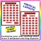 EDITABLE! Drag & Drop SEATING CHART - Starting Layout of 35 Students - Red
