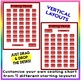 EDITABLE! Drag & Drop SEATING CHART - Starting Layout of 40 Students - Red