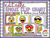 EDITABLE EMOJI CLIP CHART & Clothespin labels