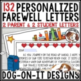 End of Year Letter from Teacher to Students and Parents Digital Print Editable
