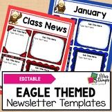 Editable Newsletter Templates: Eagle Themed Newsletter Template
