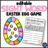 EDITABLE Easter Egg Sight Word Game