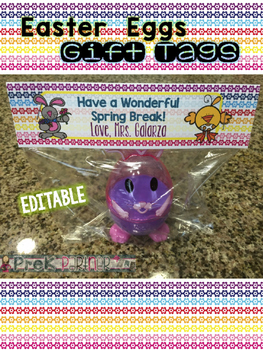 EDITABLE: Easter Gift Tag