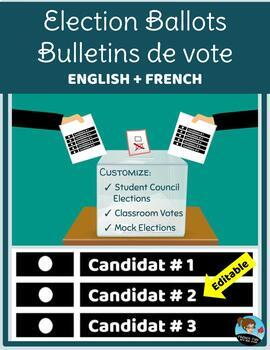 EDITABLE Election Ballots / Bulletins de vote ENGLISH + FRENCH