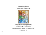 EDITABLE Elementary Visual Arts Curriculum