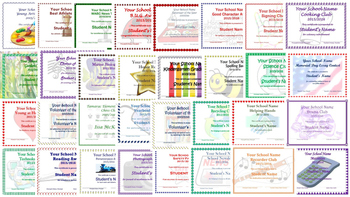 editable elementary year end award certificates achievement clubs