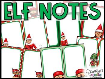 EDITABLE Elf Notes - Classroom Elf Notes