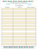 EDITABLE Emergency Parent Contact Sheet
