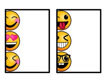 EDITABLE Emoji Theme Labels and Paper - Classroom Decor