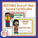 EDITABLE End-of-Year Award Certificates