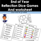 EDITABLE End of Year Reflection Dice Games - Summer Activities - Graduation