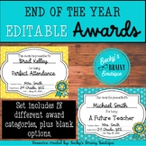 EDITABLE End of the Year Award Certificates and Ballot