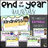 EDITABLE End of the Year Awards with Graphics- Rainbow Chevron