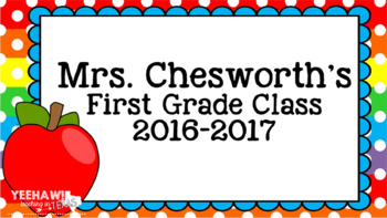 EDITABLE End of the Year Slide Show