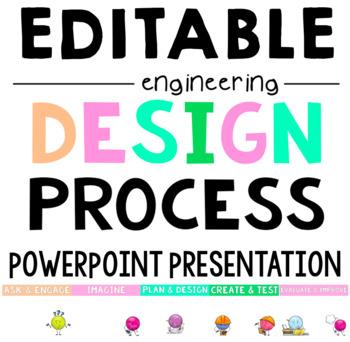 EDITABLE Engineering Design Process PowerPoint - STEM