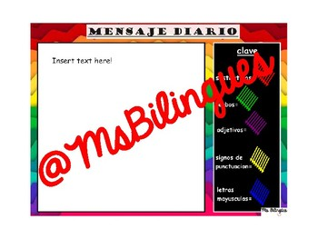 EDITABLE English Morning Message Interactive Mimio Board Activity