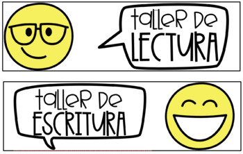 EDITABLE English & Spanish Emoji Schedule Cards!