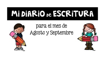 EDITABLE English/Spanish Writing Journal Covers {August & September}