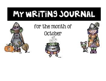 EDITABLE English/Spanish Writing Journal Covers {October}