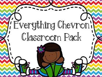 EDITABLE Everything CHEVRON Decor Mania Pack