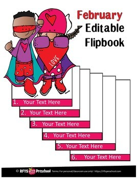 EDITABLE FEBRUARY -FLIP BOOKS - MONTHLY NEWSLETTERS - CALENDARS - TO-DO-LISTS