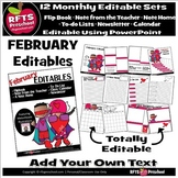 EDITABLE FEBRUARY -FLIP BOOKS - MONTHLY NEWSLETTERS - CALE