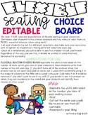EDITABLE FLEXIBLE SEATING CHOICE BOARD