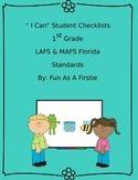 EDITABLE FLORIDA STANDARDS CHECKLIST LAFS MAFS 1st GRADE