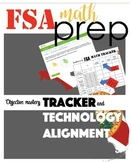 EDITABLE FSA MATH prep Objective Mastery Technology Alignment Tracker MENU
