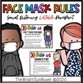 EDITABLE Face Mask Rules-  Social Distancing PowerPoint