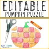 EDITABLE Thanksgiving Activity Pumpkin | Make Math, Litera